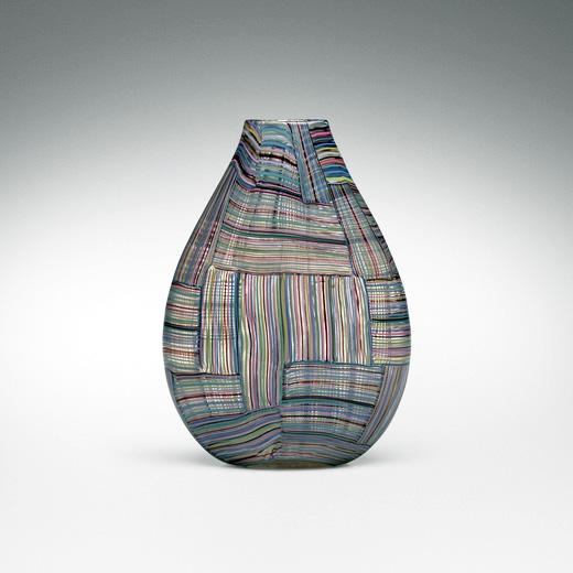 Mosaico Tessuto Vase, Paolo Venini, Italy, 1954. Image courtesy of Wright.