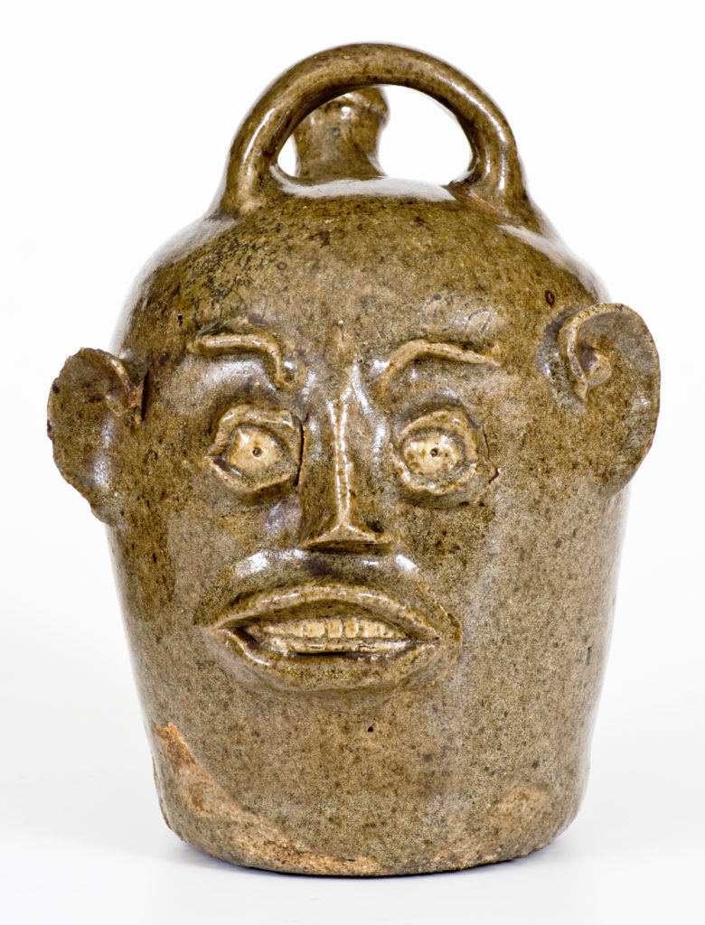 Stoneware Face Harvest Jug,  Edgefield District, South Carolina, c. 1845–1855.  Courtesy of Crocker Farm .