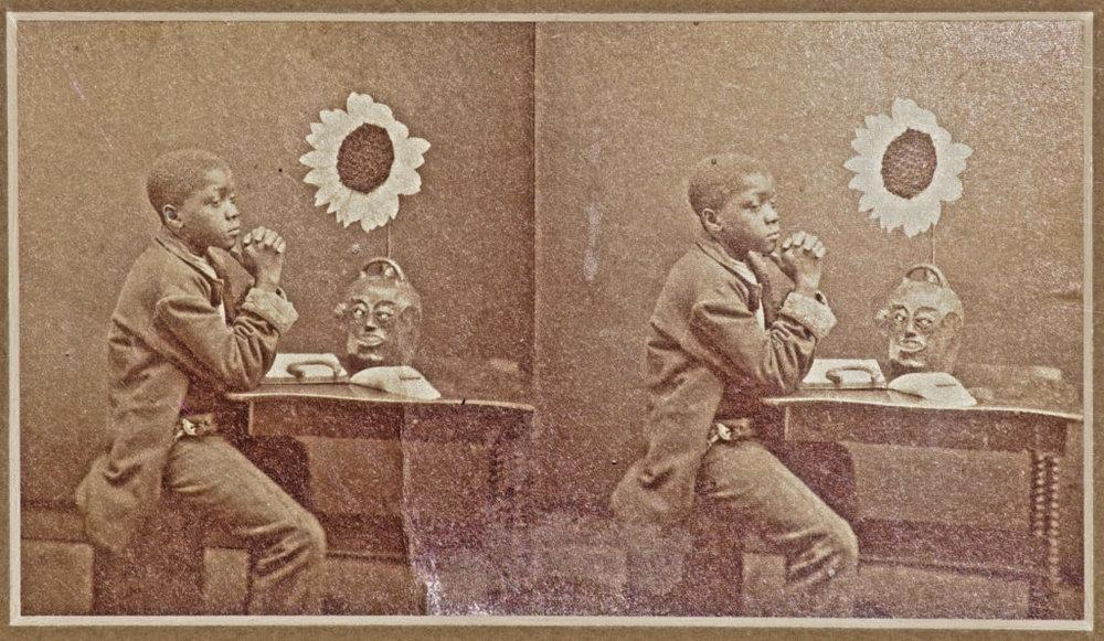 "An Aesthetic Darkeyfrom ""Aiken and Vicinity"" by J. A. Palmer, Aiken, South Carolina, 1882.Courtesy of Crocker Farm."