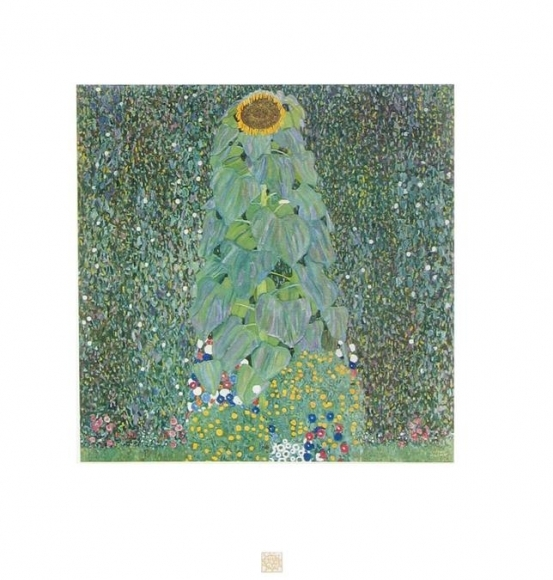 The Sunflower , Gustav Klimt, Collotype, ca. 1908-14