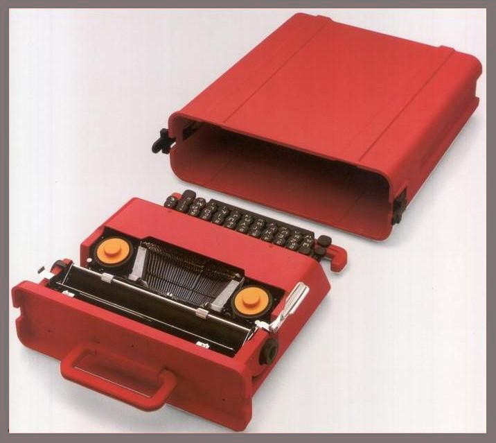 Ettore Sottsass, Valentine Portable Typewriter (1968), ABS plastic and other materials (courtesy Met Breuer)