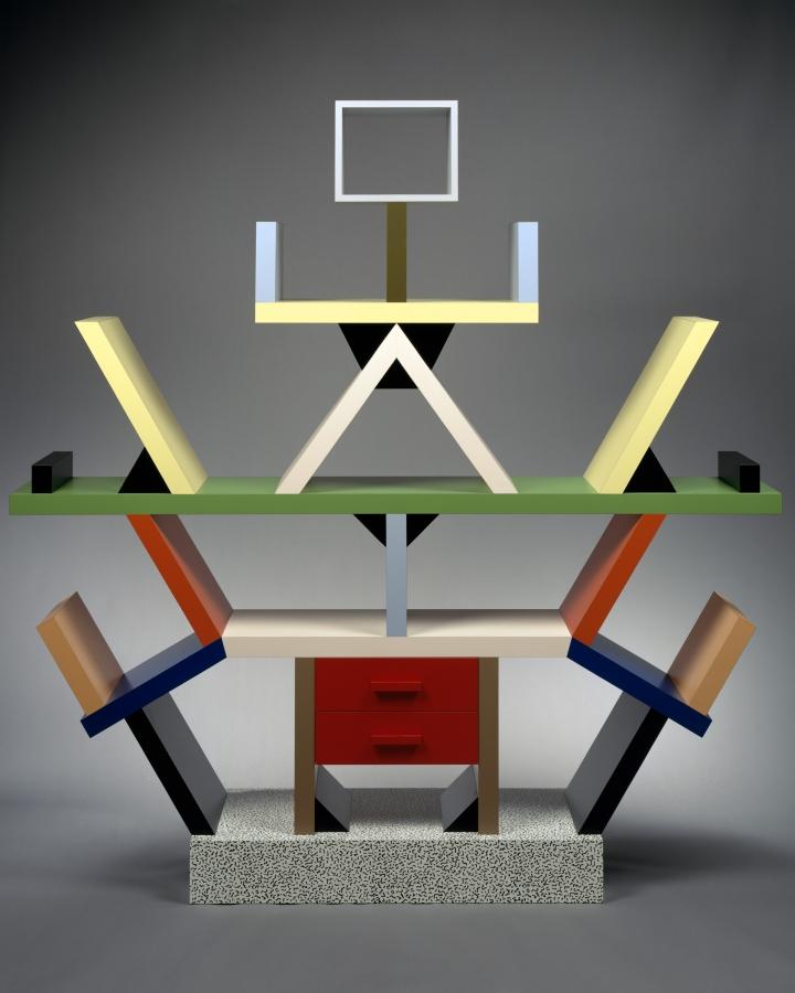 "Ettore Sottsass, ""Carlton"" Room Divider, (1981), wood, plastic laminate (courtesy Met Breuer)"
