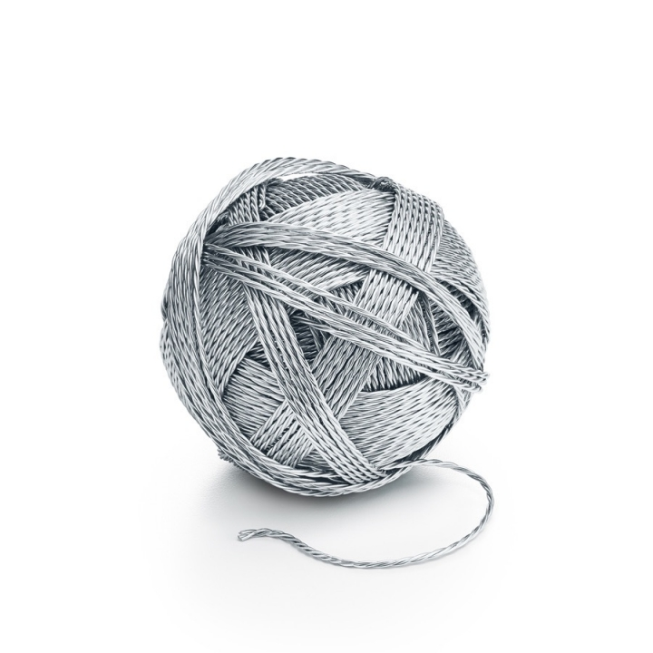 "Tiffany and Co., ""Sterling Silver Ball of Yarn"" (2017) from the ""Everyday Objects"" collection (courtesy: Tiffany and Co., New York)"