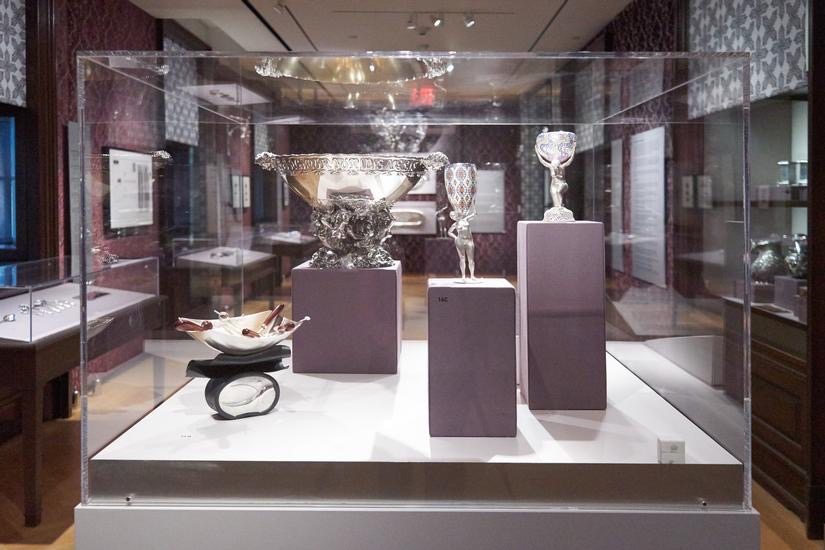 Installation view of  New York Silver, Then and Now  at the Museum of the City of New York