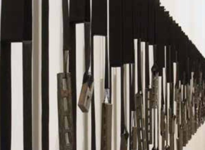 France Goneau's installation  City , detail