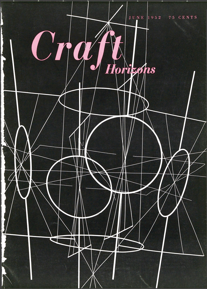 Richard Lippold, Aerial Act, 1950, brass, copper, nichrome wire, Craft Horizons, May/June 1952, Volume 12, Number 3