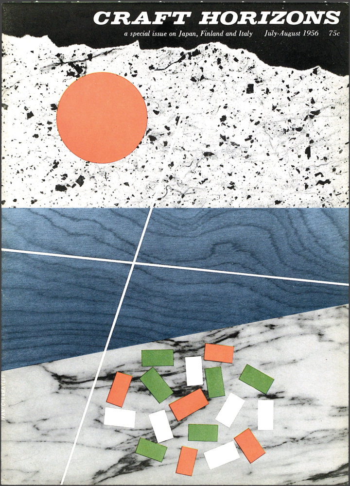 Ivan Chermayeff and Robert Brownjohn, Craft Horizons, July/August 1956, Volume 16, Number 4
