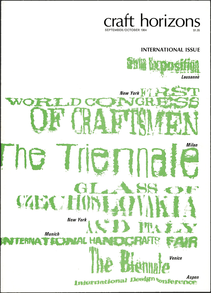 Tobias O'Mara, Craft Horizons, September/October 1964, Volume 24, Number 5