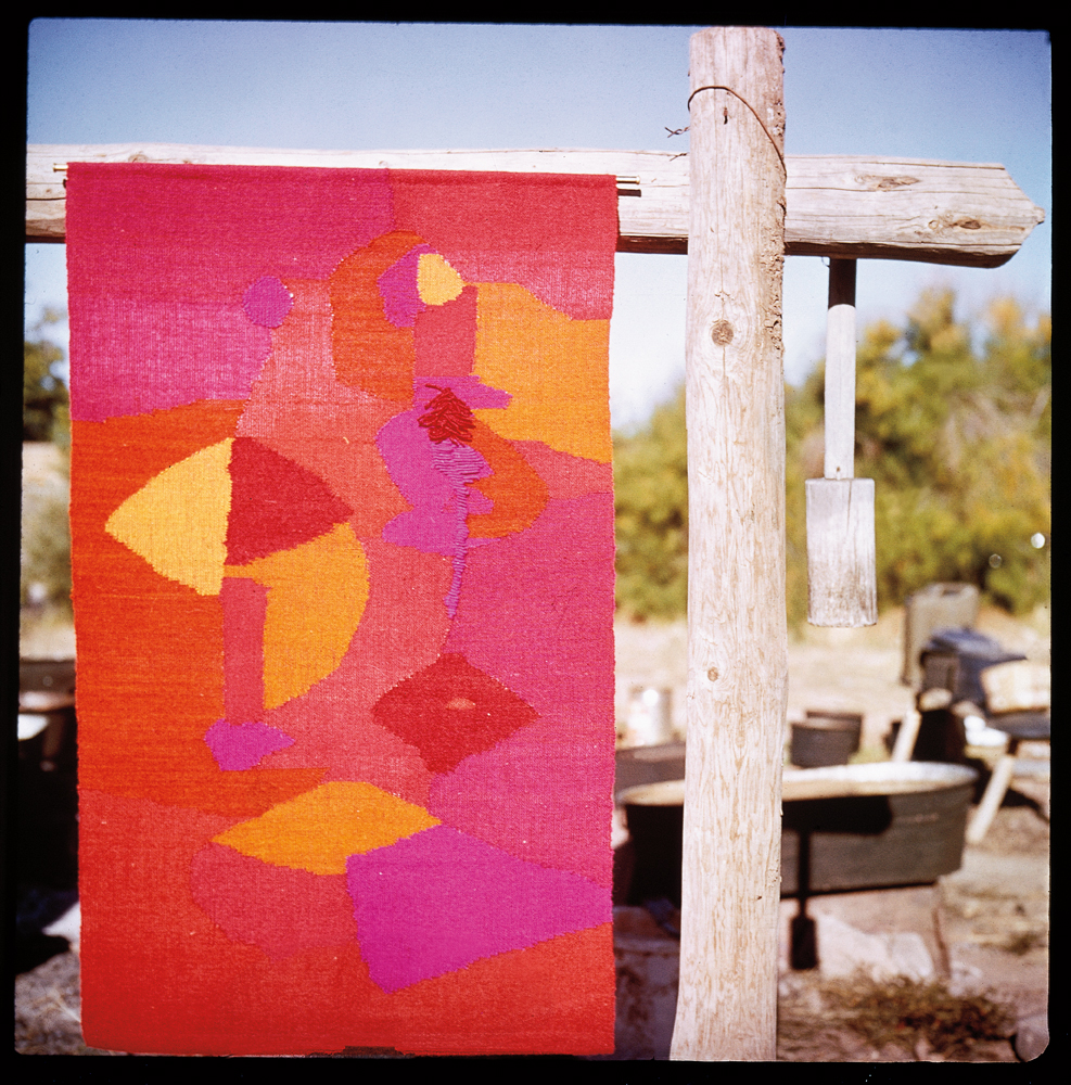 Todd Webb (1905–2000), Wall hanging, 1963, color slide  Alice Kagawa Parrott Artist File, the American Craft Council Library & Archives, Minneapolis, MN