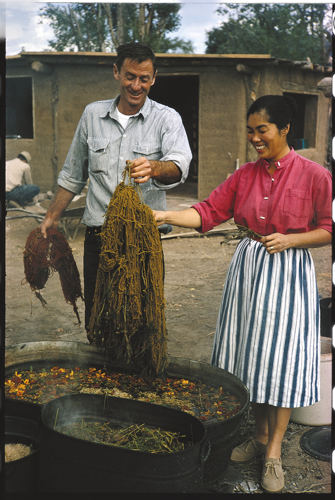 Todd Webb, Allen and Alice, 1963, color slide.  Alice Kagawa Parrott Artist File, the American Craft Council Library & Archives, Minneapolis, MN