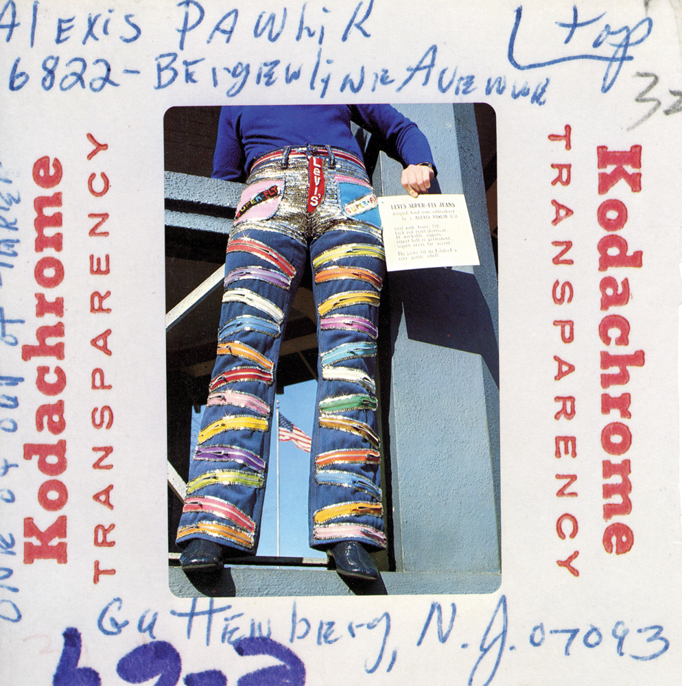 Third place entry from C. Kenneth Havis, Denton, TX  Levi's Denim Art Contest Catalogue of Winners, Baron Wolman / Squarebooks in conjunction with Owens & Company, 1974. Design by Tony Lane