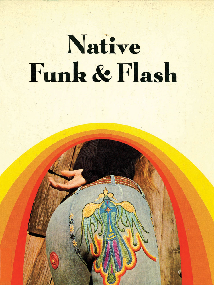 Cover, Native Funk & Flash: an Emerging Folk Art, Scrimshaw Press, 1974. Cover design by Georgia George