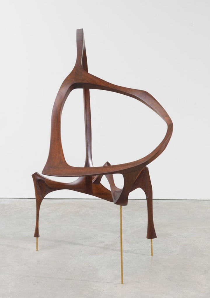 "Wendell Castle, ""Walnut Sculpture"" (1958–59), walnut and brass pins (image courtesy of Friedman Benda and the artist; photo by Adam Reich)"
