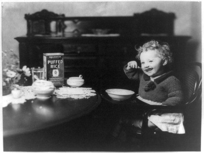 Puffed Rice  , ca. 1918. Photograph.Library of Congress