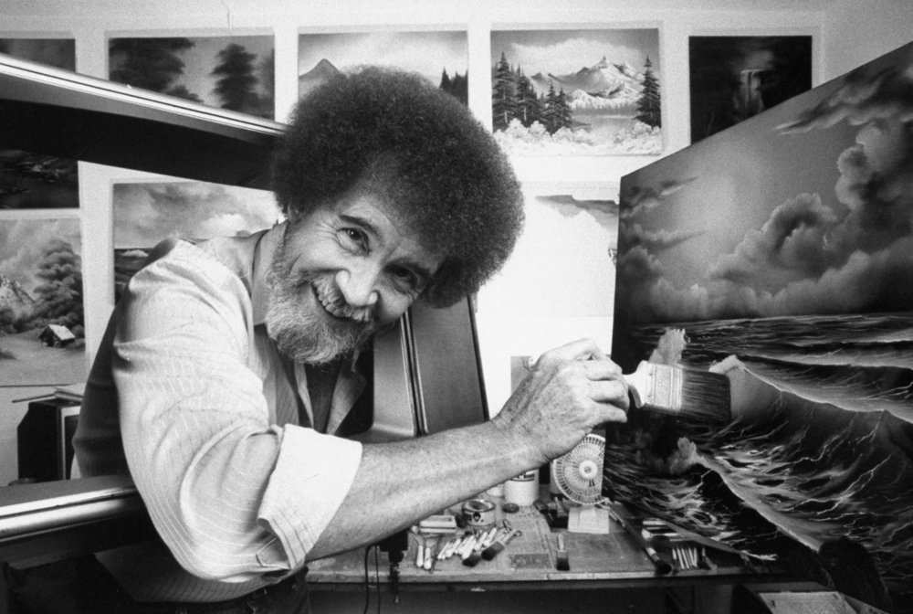Sleep stories, which are a cross between Books on Tape and bedtime stories, are the ideal vehicle for Bob Ross's style of meditative art instruction.Photograph by Acey Harper / The LIFE Images Collection / Getty