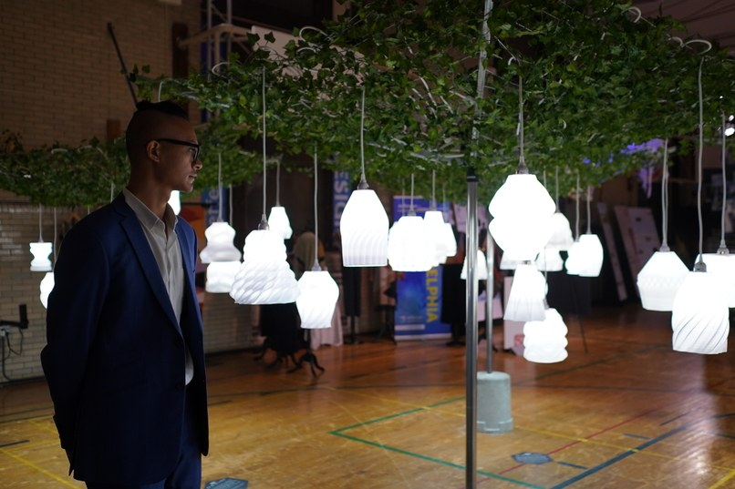"A view of ""All of the Lights,"" an exhibit of 3D-printed lamps by Budmen Industries. Photo: Joseph Kaczmarek"