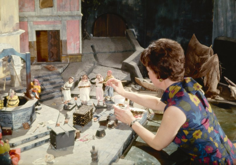One of the original members of the WED model shop, Harriet Burns, helped construct the scale models for Pirates of the Caribbean so that Disney could study every detail from the point of view of guests riding the finished attraction. Though Disney oversaw the construction of the attraction, it did not open until about a year after his death in 1966. Copyright © 2018 Disney Enterprises, Inc.