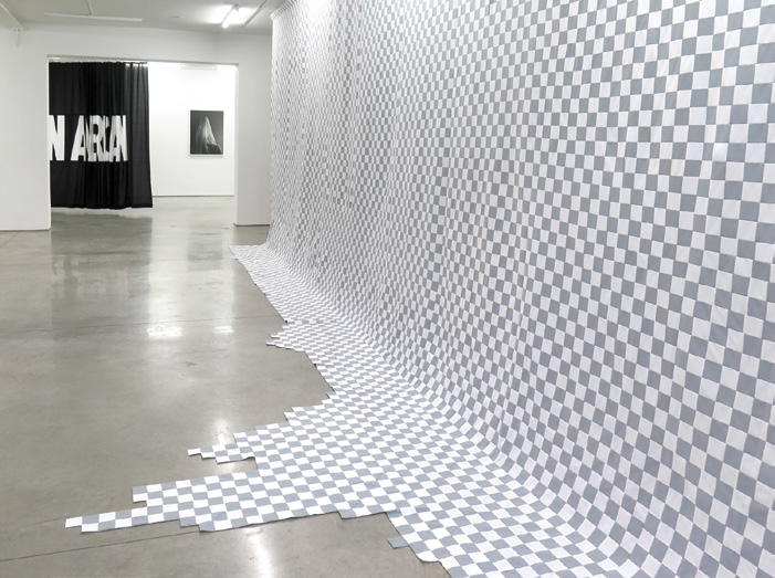 FIG. 7 – Total Transparency (Background Layer Bleed) , 2017, hand-sewn quilting cotton. Collection of the artist and courtesy RYAN LEE Gallery, New York