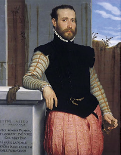 Giovanni Battista Moroni, Portrait of Prospero Alessandri, 1580.
