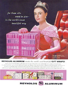 A Reynolds aluminum advertisement from the 1960s.
