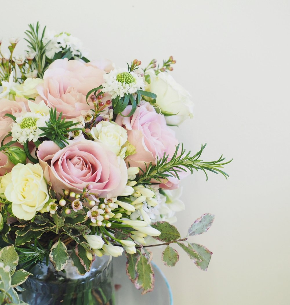 Another bride called Mary - this bouquet was full of roses and rosemary - it smelt amazing!