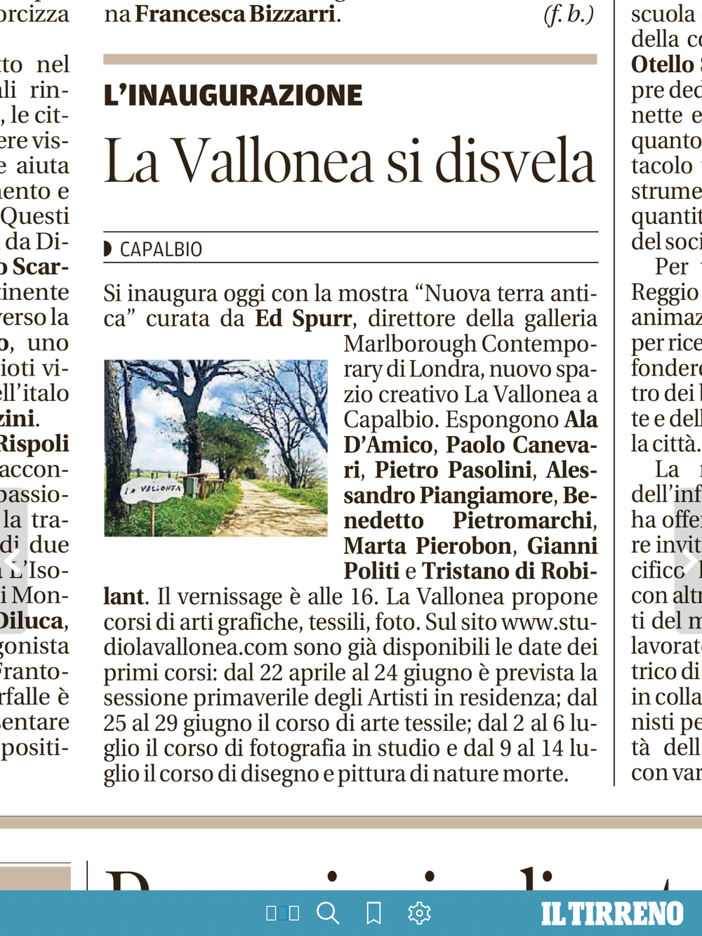 Il Tirreno | 31 marzo, 2018