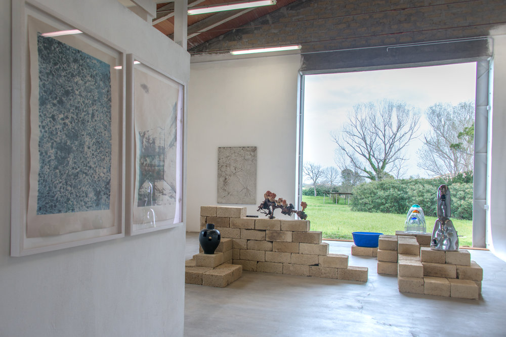 Installation view of  Nuova Terra Antica  at La Vallonea