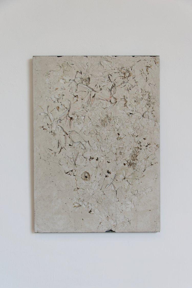 Alessandro Piangiamore   Ieri Ikebana 31032017 , 2017 Concrete, flora, metal