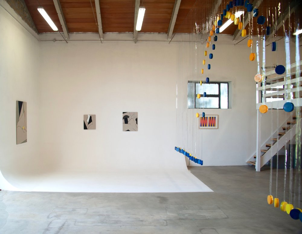 Installation view of  Borderline  at La Vallonea