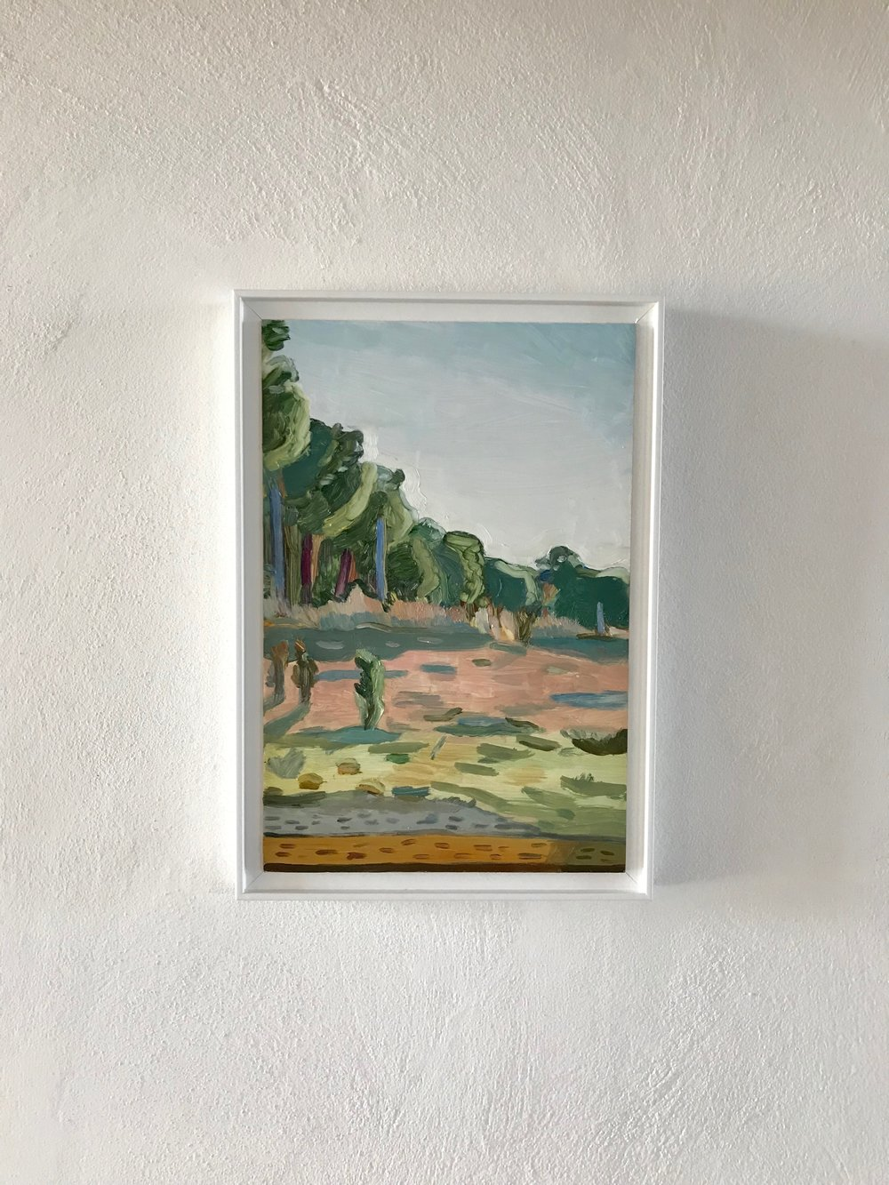 Charlie Masson   Western View (Before Sunset/Tuscany) , 2018 Oil on Board