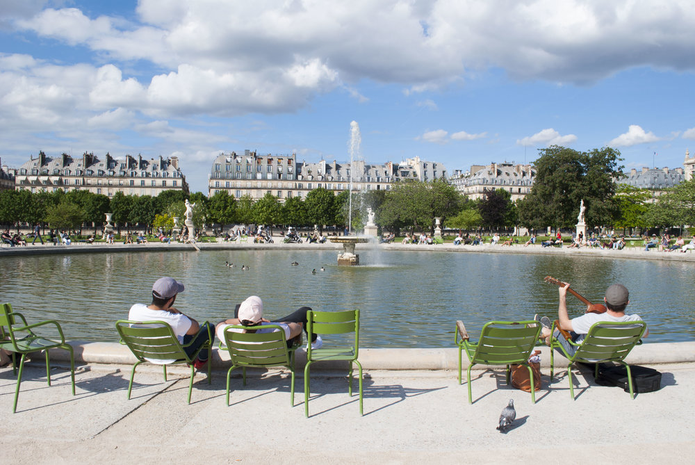 Passing the time in Tuileries Garden.