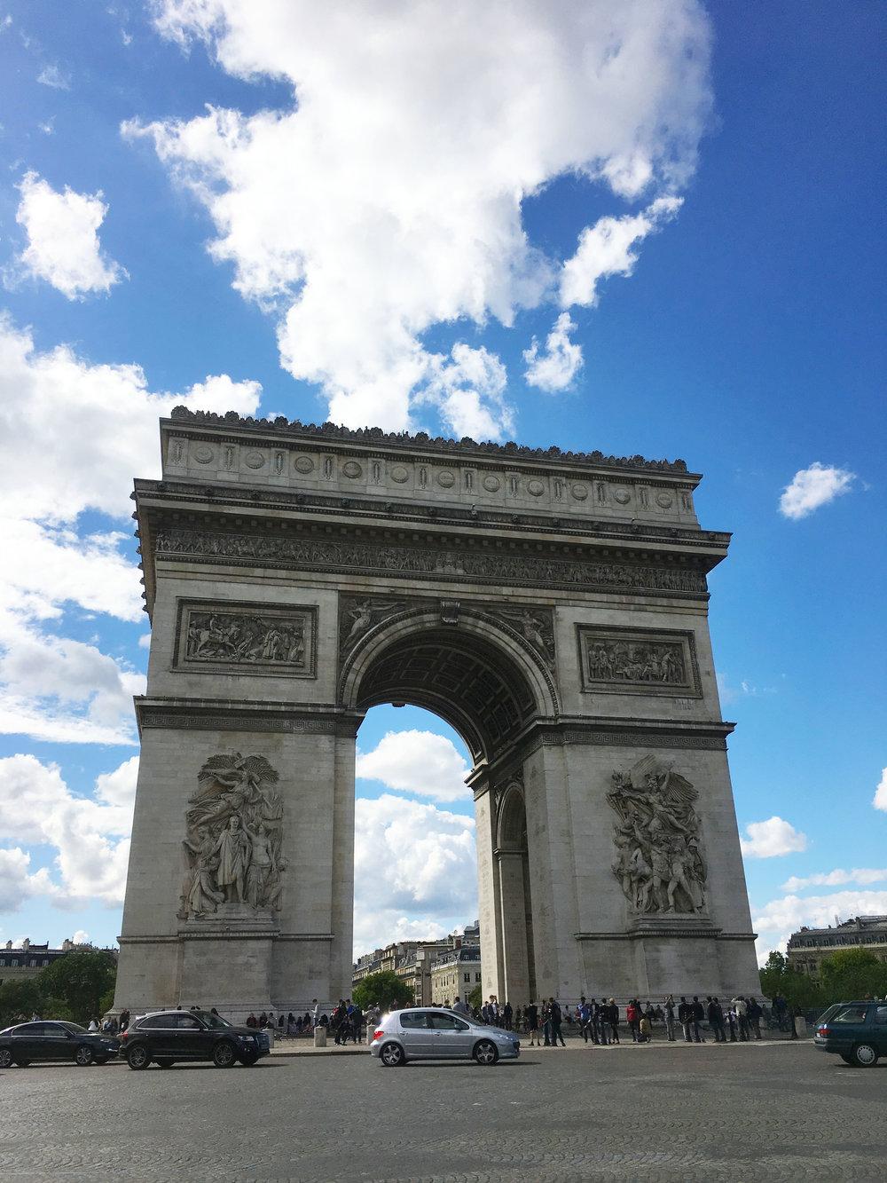 Arc de Triomphe from the Champs-Élysées.