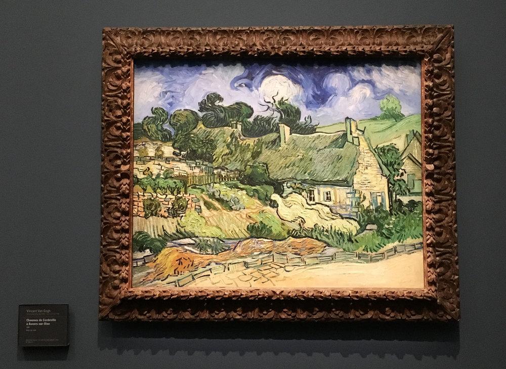 Vincent van Gogh's  Chaumes de Cordeville à Auvers-sur-Oise