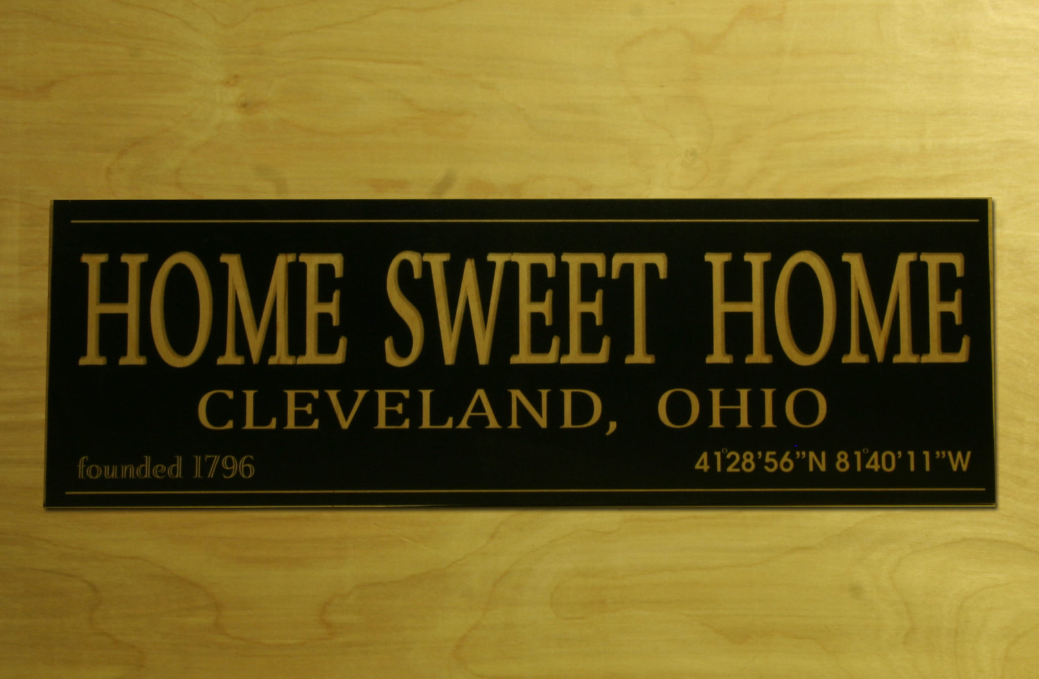 Cleveland Home Sweet Home Birch Wall Art — the foundry