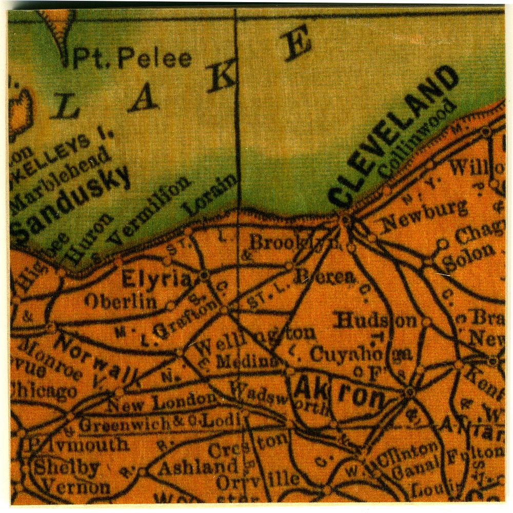 New London Ohio Map.Vintage Ohio Map The Foundry