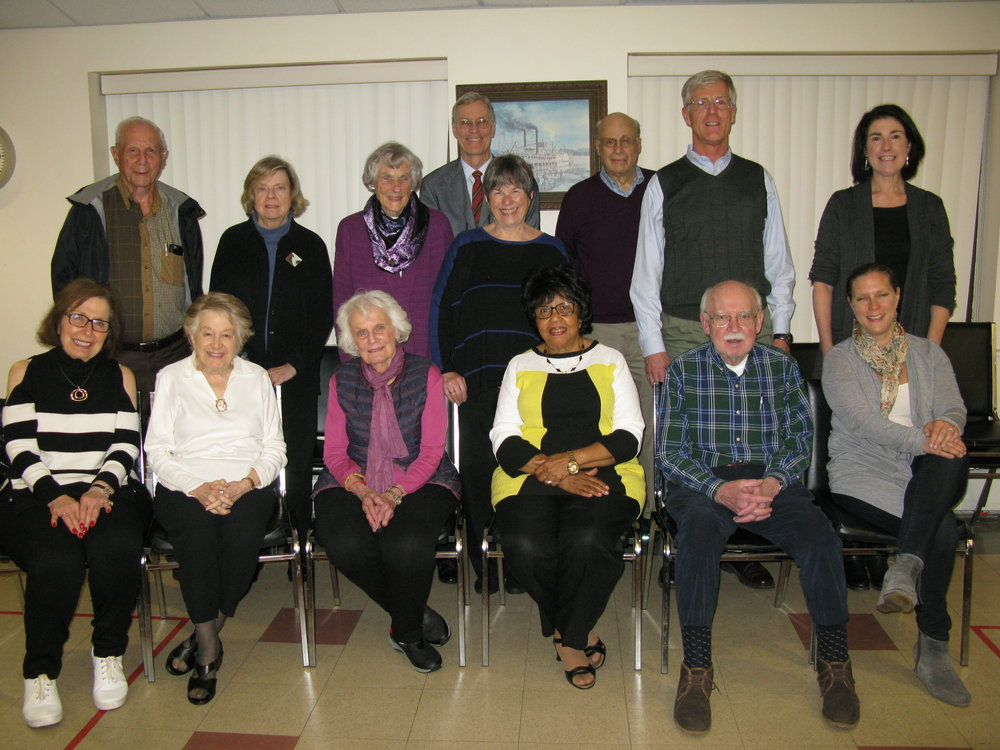 Back row (L to R) - Harry Phillips III (Hartsdale), Susan Pace Guma (Bronxville), Polly M. Kuhn (Somers), Paul Atkinson (Pleasantville), Susan Schwarz (Tarrytown), Victor J. Goldberg (Scarsdale), Robert C. Kirkwood (Pleasantville), Joy Rosenzweig (Chappaqua)  Front row (L to R) - Evelyn Stock (Scarsdale), Miriam Cohen (Larchmont), Carole Princer Levy (New Rochelle), LaRuth Gray (New Rochelle), Philip M. Maley (Irvington), Elizabeth Bermel (Ossining)