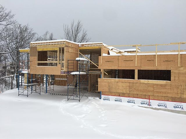 New Years Day site visits in a winter wonderland. Wishing everyone a happy and healthy 2018.  #customhomes #customcarpentry #architecturelovers #architecture #collingwood #modernhomes #constructionmanagement #contemporaryarchitecture