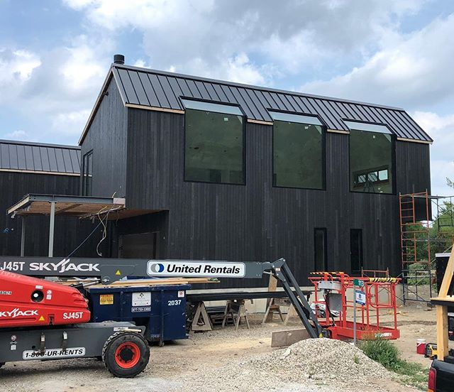 Progress Shot of one of our incredible projects in Collingwood.  Siding is finally complete, let us know what you think! · · · · #sierracustomhomes #architecture #interiorstyle #interiordesign #architecturelovers #customhomes #customchalet #collingwood #alpine #alpineskiclub #housetour #custom #design #designer #archilovers #chalet #dreamhome #realestate #details