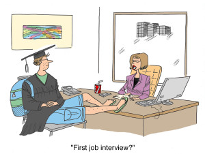 First job interview for the casual graduate