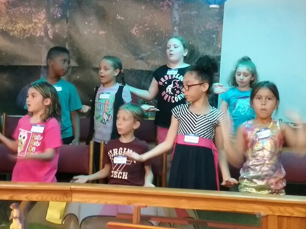 - Music class gives campers a time to learn new songs about God's love and forgiveness.