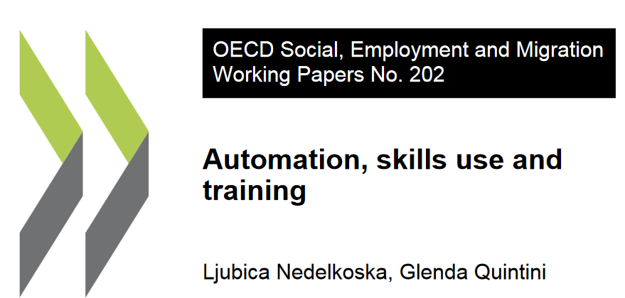 OECD - Automation, skills use and training   Artificial intelligence, machine learning and automation will present a risk to many jobs. This report shows the risk for the different OECD countries and also assesses the risk for different job profiles.