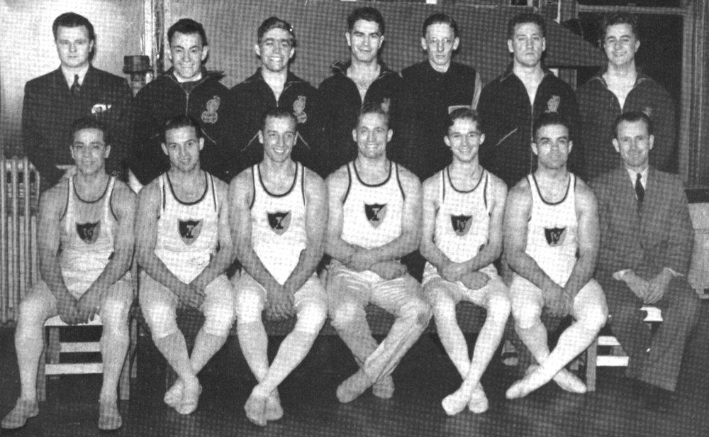 1940 University of Illinois Gymnastics Team