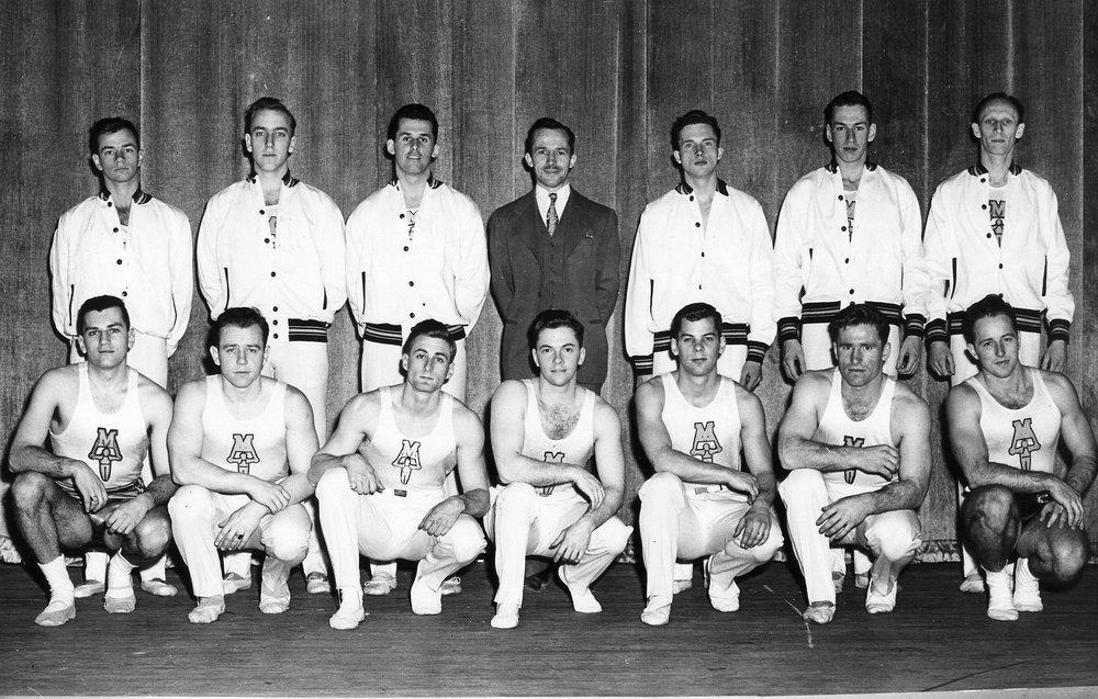 1949-1950 Gymnastics team