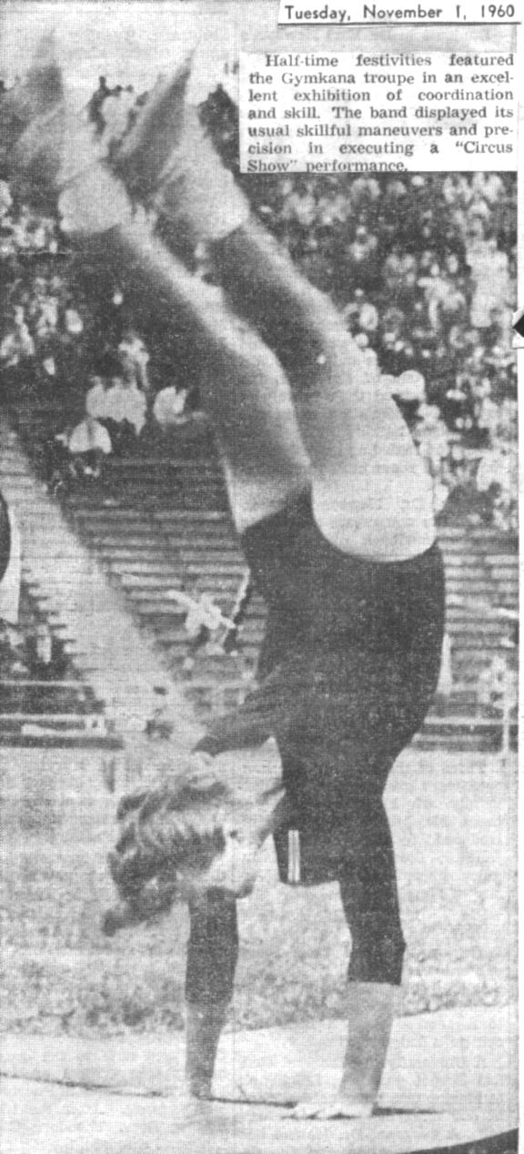Halftime show Nov. 1, 1960