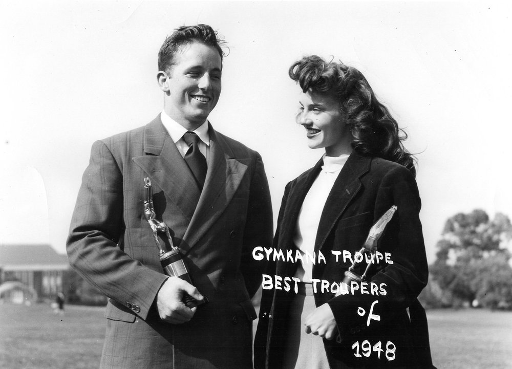 Gymkana 1948 Best Troupers, Gloria Myers and Chuck Finch