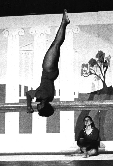 1968 - Sandy Conway on beam.jpg