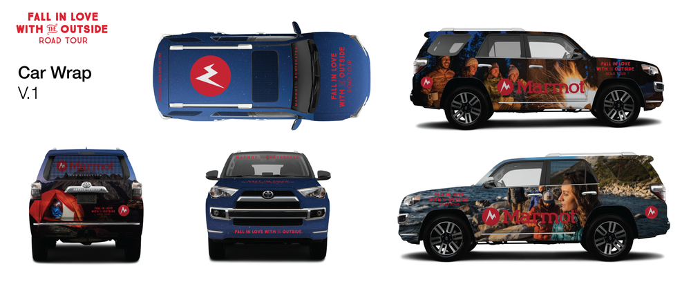 Car Wrap design for Marmot