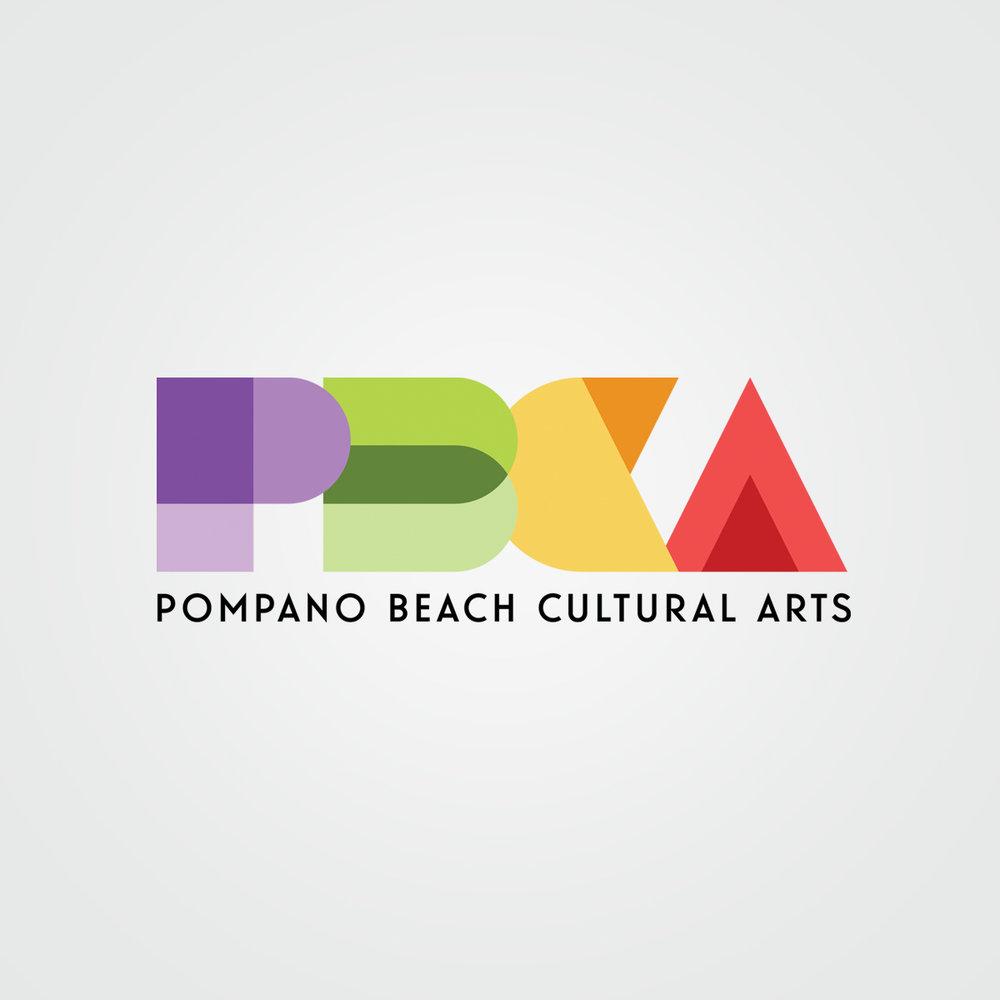 Proposed brandmark / logo design for Pompano Beach Cultural Arts (PBCA)