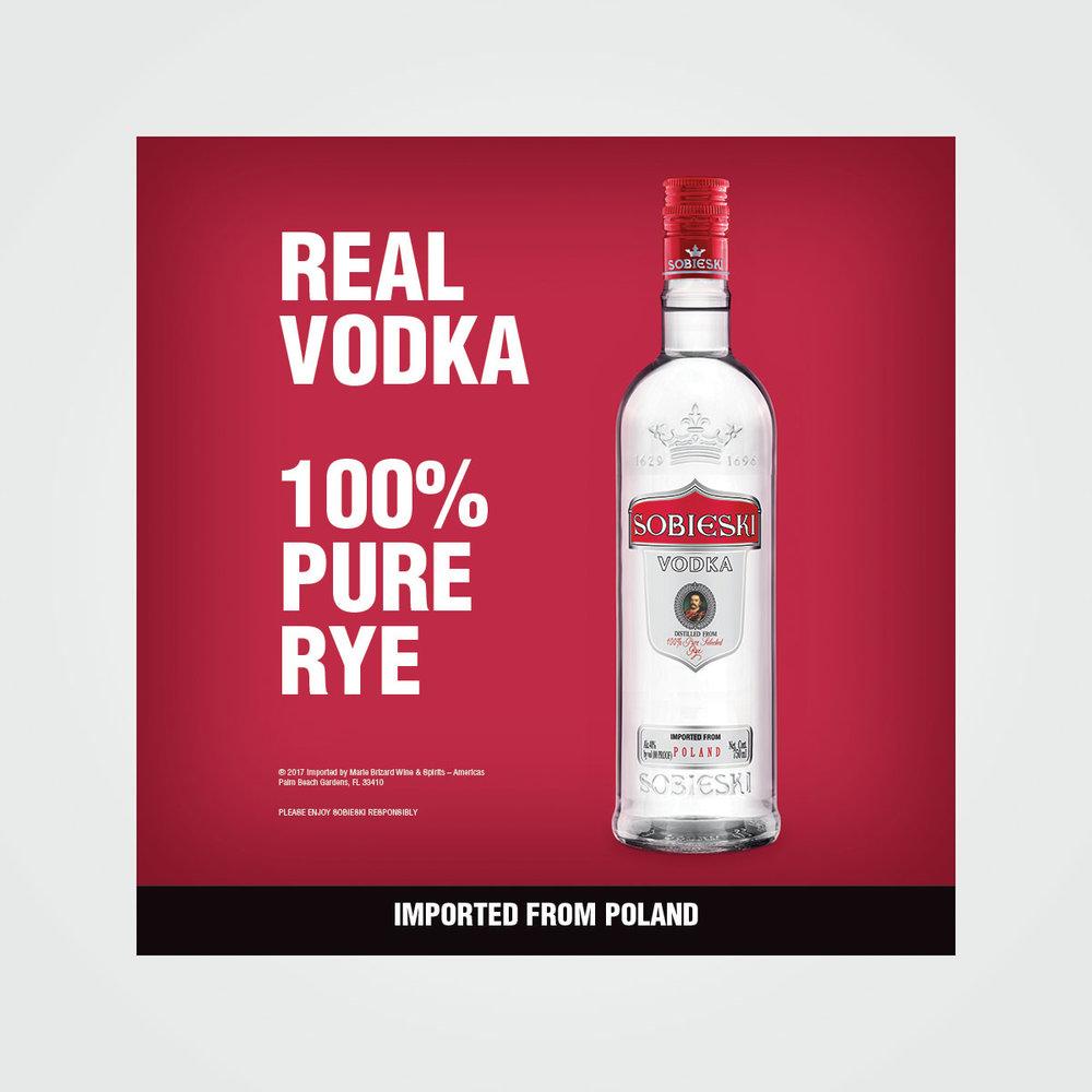 In-store POS lightbox/signage for Sobieski Vodka