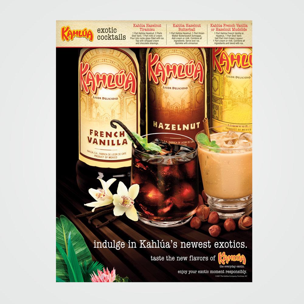POS poster design for Kahlua